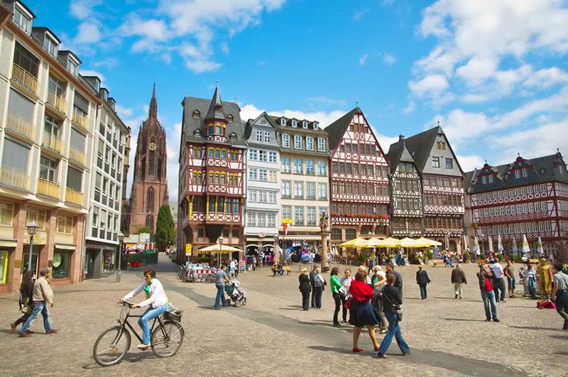 Frankfurtin Kaupunginosia Alueita Ja Niiden Nahtavyyksia