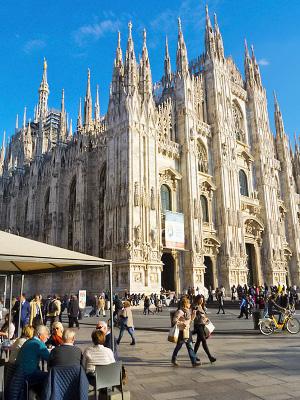 Milanon Kaupunginosia Alueita Ja Niiden Nahtavyyksia