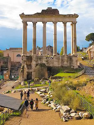 Rooman Kaupunginosia Alueita Ja Niiden Nahtavyyksia